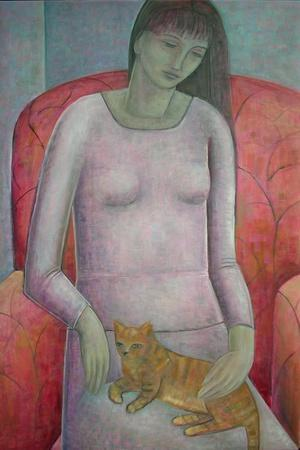 Woman with Cat, 2014
