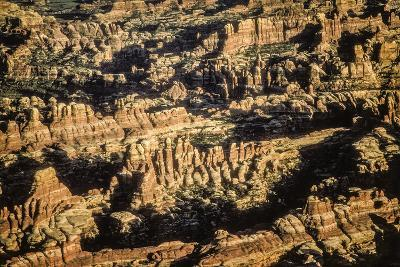 Aerial View of Sandstone Erosional Forms in the Needles District