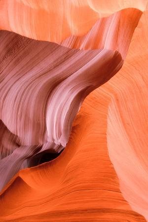 Close Up of Cliffs in a Slot Canyon in the Upper Antelope Canyon