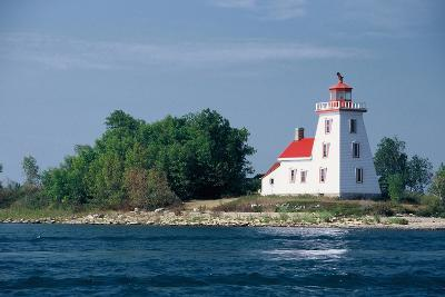 Canada, Ontario, Lake Huron, Strawberry Island Lighthouse.