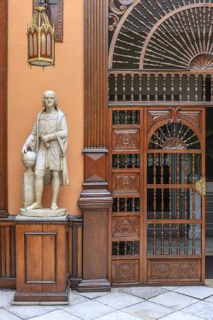 Casa de Aliaga, the oldest colonial mansion in Lima, Peru.