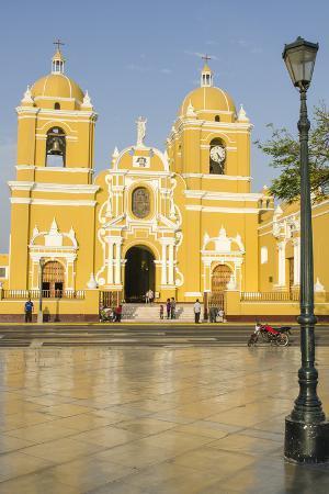 Cathedral of Trujillo from Plaza de Armas, Trujillo, Peru.