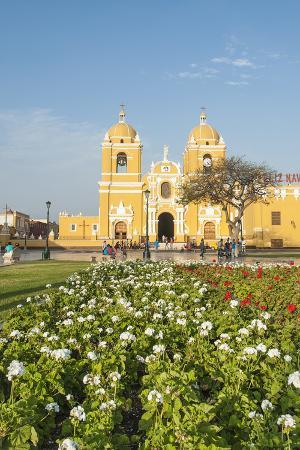 Cathedral of Trujillo from Plaza de Armas, Trujillo, Peru.