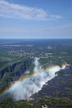 Rainbow over Victoria Falls, Zambezi River, Zimbabwe/Zambia