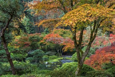 Japanese Gardens in autumn in Portland, Oregon, USA