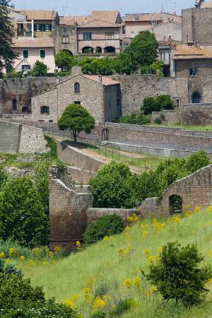 City ramparts, Tuscania, Viterbo, Latium, Italy.