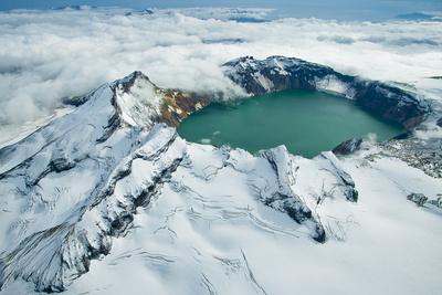 Crater Lake in Katmai National Park, Alaska, USA