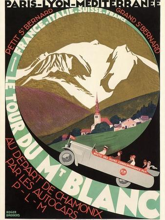 Poster for Mont Blanc Tour