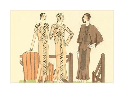 Fashion Illustration, Three Dresses
