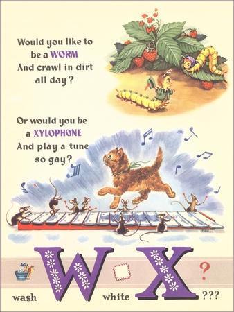 Alphabet, W and X