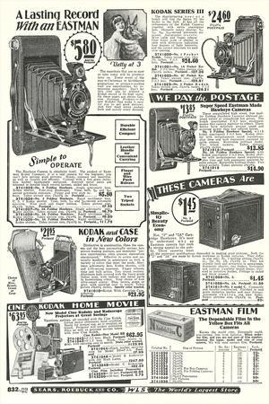 Cameras in Sears Roebuck Catalog