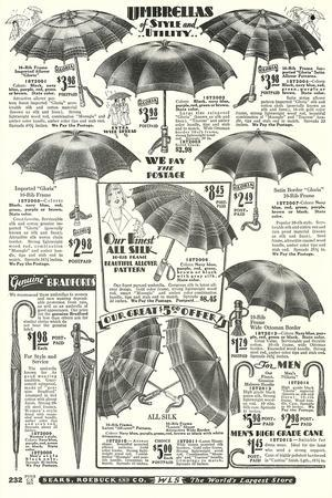 Umbrellas in Sears Roebuck Catalog