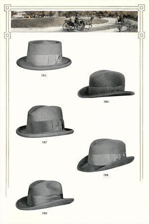 Five Men's Hats