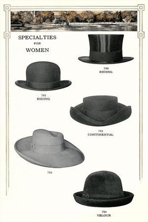 Five Women's Hats