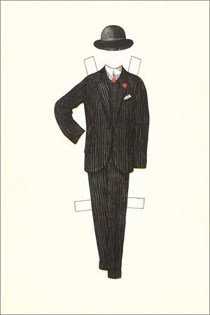 Man's Suit Paper Doll, 1910s