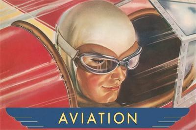 Aviatrix in Goggles