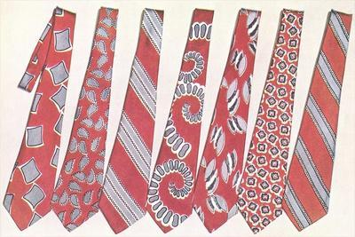 Red and Gray Neckties