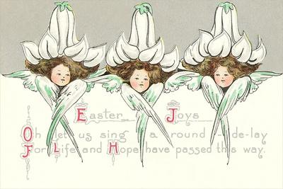 Cherubs with Lily Hats