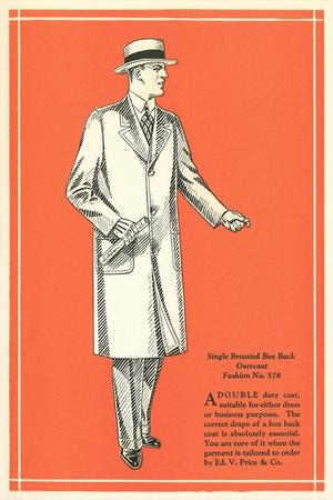 Single-Breasted Box Back Overcoat