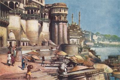 The Ghats, Benares, India