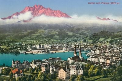 Lucerne with Mt. Pilatus, Switzerland