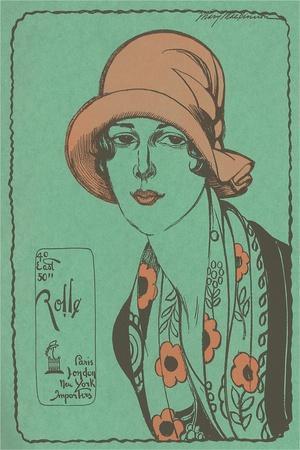 Woman in Cloche Hat