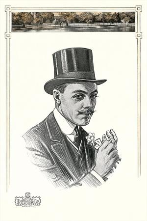 1910s Dunlap and Co. Man's Hat Illustration