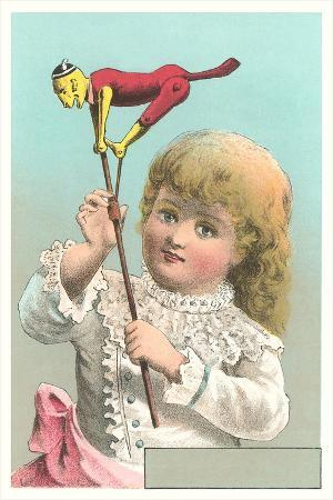 Victorian Girl with Puppet