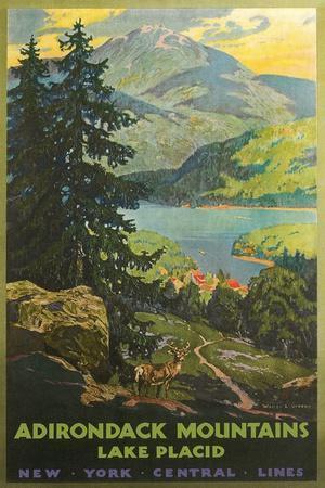 Adirondacks Travel Poster