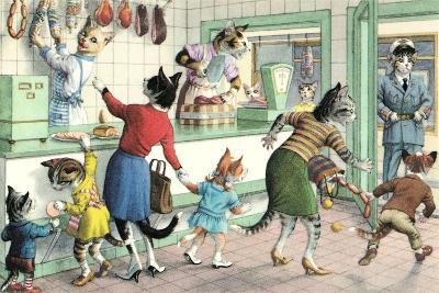 Crazy Cats at the Butcher Shop