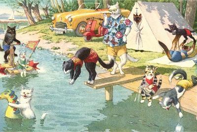 Crazy Cats at the Lake