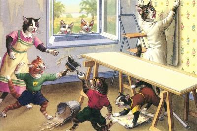 Crazy Cats Doing Wallpaper