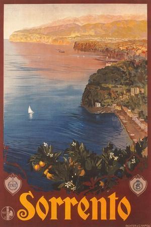 Travel Poster for Sorrento