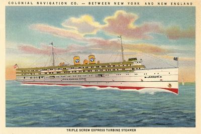Steamship on East Coast