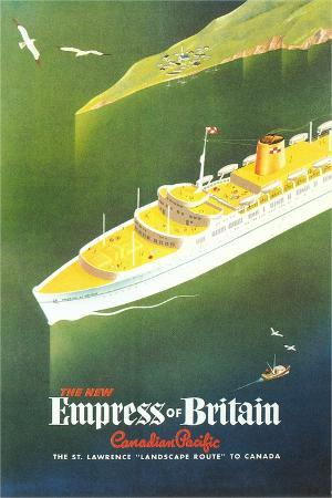 Empress of Britain Travel Poster