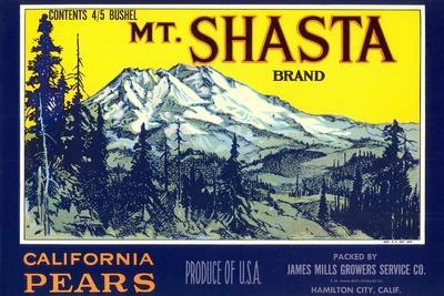 Mt. Shasta Pear Label