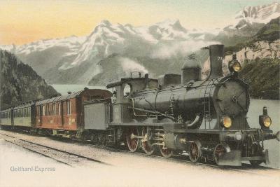 Gotthard Express Through the Alps