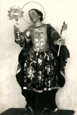 Statue of Saint with Pyx