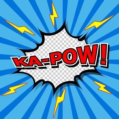 Ka-Pow! Comic Speech Bubble, Cartoon