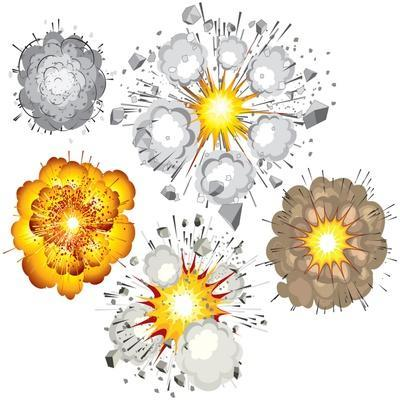 Detonation of Bomb, Fuel, Dynamite, Gas, Eruption