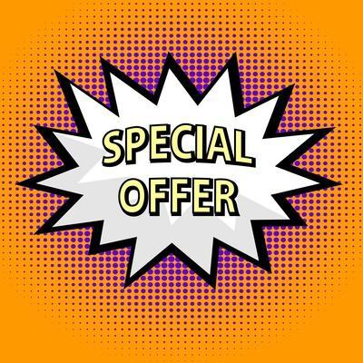 Special Offer Label in Pop Art Style