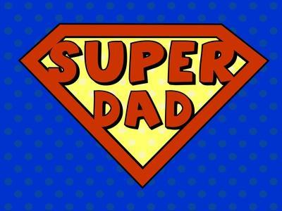 Super Dad Shield in Pop Art Style