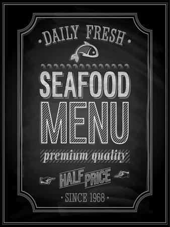 Seafood Poster Chalkboard