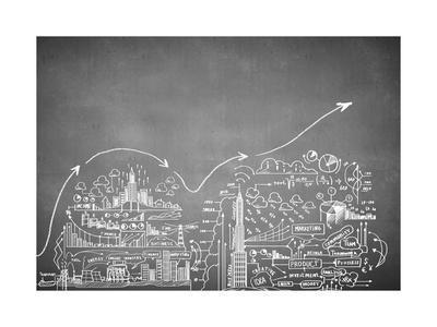 Chalk Drawn Business Plan Sketch