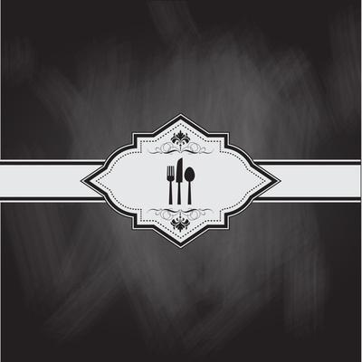 Menu Design with a Chalkboard Effect
