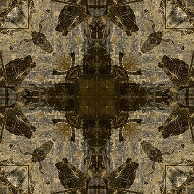 Art Nouveau Colorful Ornamental Vintage Pattern in Brown Color