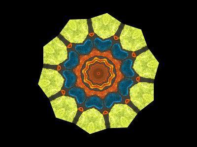 Golden Polygon Flower