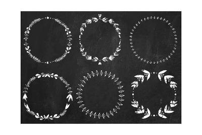 Collection of Chalk Laurel Wreaths