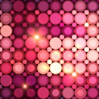 Pink Disco Circles Abstract Background