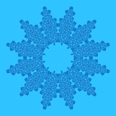 Blue Background with Abstract Shape